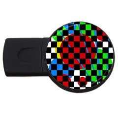colorful abstraction USB Flash Drive Round (1 GB)