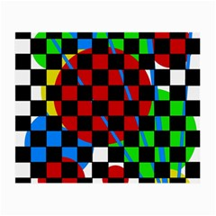 colorful abstraction Small Glasses Cloth