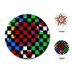 colorful abstraction Playing Cards (Round)