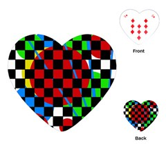 colorful abstraction Playing Cards (Heart)
