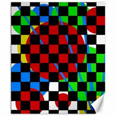 Colorful Abstraction Canvas 8  X 10