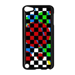 colorful abstraction Apple iPod Touch 5 Case (Black)