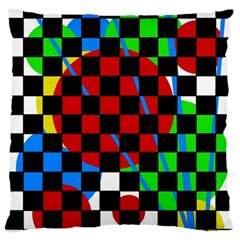 colorful abstraction Standard Flano Cushion Case (One Side)