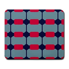 Red blue shapes pattern                                                                                     			Large Mousepad