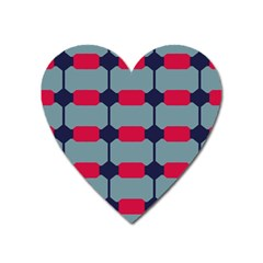Red blue shapes pattern                                                                                     Magnet (Heart)