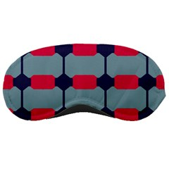 Red blue shapes pattern                                                                                     			Sleeping Mask