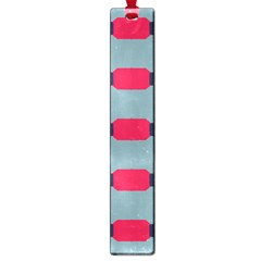 Red Blue Shapes Pattern                                                                                     			large Book Mark