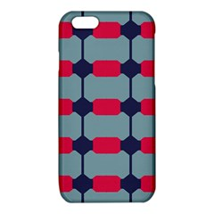Red blue shapes pattern                                                                                     			iPhone 6/6S TPU Case