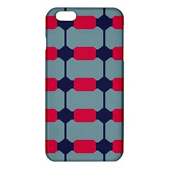 Red Blue Shapes Pattern                                                                                     			iphone 6 Plus/6s Plus Tpu Case
