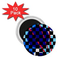 Blue abstraction 1.75  Magnets (10 pack)