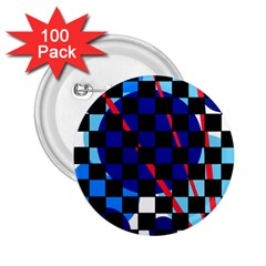 Blue abstraction 2.25  Buttons (100 pack)