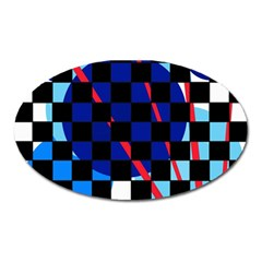 Blue abstraction Oval Magnet