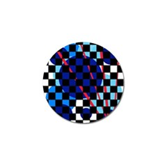 Blue abstraction Golf Ball Marker