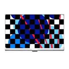 Blue abstraction Business Card Holders