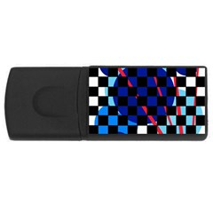 Blue abstraction USB Flash Drive Rectangular (2 GB)