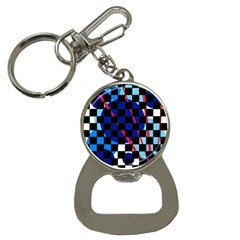 Blue abstraction Bottle Opener Key Chains
