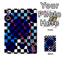 Blue abstraction Playing Cards 54 Designs