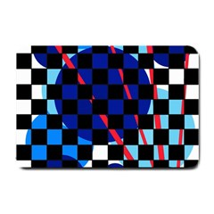 Blue abstraction Small Doormat