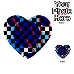 Blue abstraction Multi-purpose Cards (Heart)
