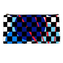 Blue abstraction Pencil Cases