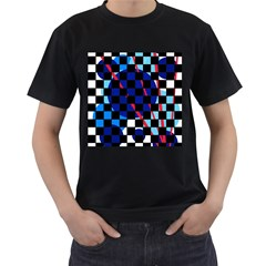 Blue abstraction Men s T-Shirt (Black)
