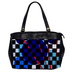 Blue abstraction Office Handbags