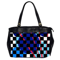 Blue abstraction Office Handbags (2 Sides)