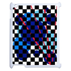 Blue abstraction Apple iPad 2 Case (White)