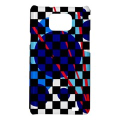 Blue abstraction Samsung Galaxy S2 i9100 Hardshell Case
