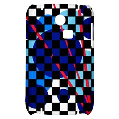 Blue abstraction Samsung S3350 Hardshell Case