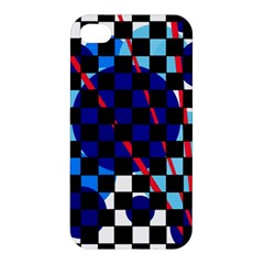Blue abstraction Apple iPhone 4/4S Premium Hardshell Case