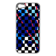 Blue abstraction Apple iPhone 5 Case (Silver)
