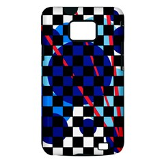 Blue abstraction Samsung Galaxy S II i9100 Hardshell Case (PC+Silicone)