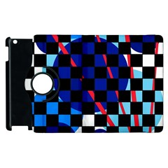 Blue abstraction Apple iPad 3/4 Flip 360 Case