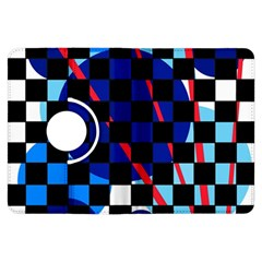 Blue abstraction Kindle Fire HDX Flip 360 Case