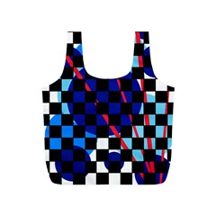 Blue abstraction Full Print Recycle Bags (S)