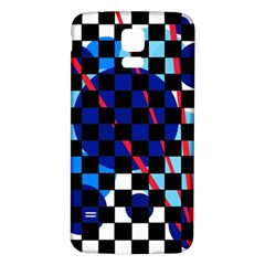 Blue abstraction Samsung Galaxy S5 Back Case (White)