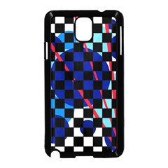 Blue abstraction Samsung Galaxy Note 3 Neo Hardshell Case (Black)
