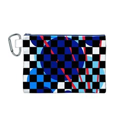 Blue abstraction Canvas Cosmetic Bag (M)