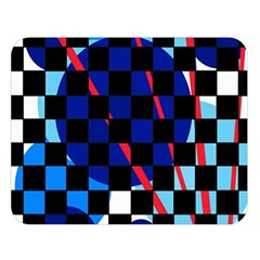 Blue abstraction Double Sided Flano Blanket (Large)