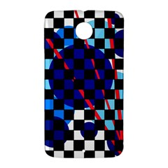 Blue abstraction Nexus 6 Case (White)