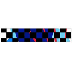 Blue abstraction Flano Scarf (Large)