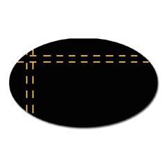 Elegant design Oval Magnet