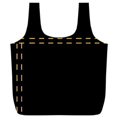 Elegant design Full Print Recycle Bags (L)