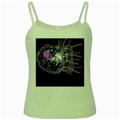 Neon fish Green Spaghetti Tank
