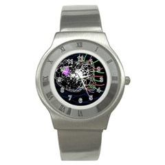 Neon fish Stainless Steel Watch