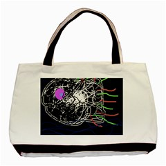 Neon fish Basic Tote Bag (Two Sides)