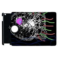 Neon fish Apple iPad 3/4 Flip 360 Case