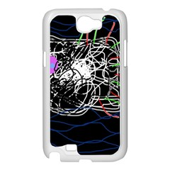 Neon fish Samsung Galaxy Note 2 Case (White)