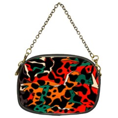 Metallic Shapes In Retro Colors                                                                                      chain Purse (two Sides)